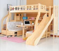 bunk bed with slide and desk. Children Beds Multi-function Environmental Children Bunk Bed Wooden Beds  With Study Desk Drawer Slides Slide And +