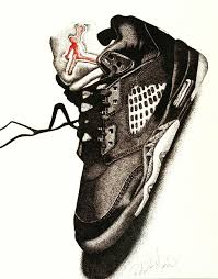 jordans shoes drawings. air jordan drawing - by robert morin jordans shoes drawings