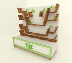 natural modern wall book shelving design with wooden materials that is combinated by green color of the materials of the book shelving can add the beauty of