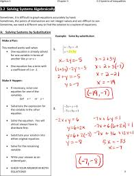a solving systems by substitution make a plan example solve by substitution this