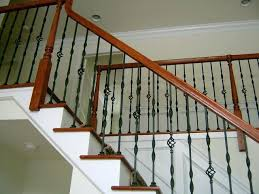 outdoor metal stair railing. Metal Stair Rail Steel Ornamental Balusters With Wood Handrail Traditional Staircase Outdoor Railing Kits