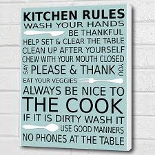 kitchen wall picture kitchen rules wall
