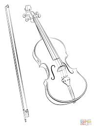 Small Picture Violin and Bow coloring page Free Printable Coloring Pages