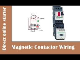 how to wire magnetic contactor overload relay dol stater how to wire a contactor for a 3 phase motor at Contactor And Overload Wiring Diagram