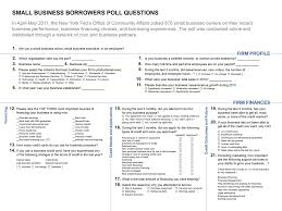 Small Business Questionnaire May 2011 Small Business Borrowers Poll Summary Federal Reserve