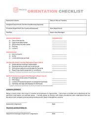 Staff Orientation Checklist Employee Orientation Checklist Staff Group Child Care Centers