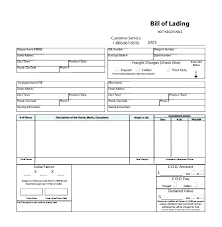 Bill Of Lading Free Form Straight Bill Of Lading Template Awesome Excel Download By