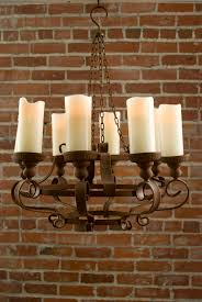 confortable rustic chandeliers with battery powered led candles no power about rusty chandelier
