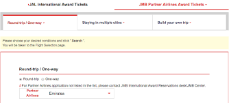 Jal Award Chart Emirates You Can Now Book Emirates Awards On Japan Airlines Website