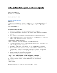Cover Letter Resume Format For Back Office Executive Resume Format