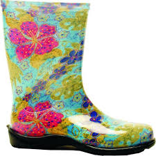 Sloggers Size 10 Midsummer Blue Womens Tall Rain And Garden Boot