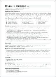 Sample Of Rn Resumes Nursing Resume Skills Example Of Entry Level Registered Nurse