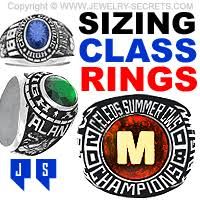 Jostens Class Ring Size Chart Sizing Class Rings Or College Rings Jewelry Secrets