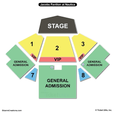 jacobs pavilion at nautica seating chart charts tickets