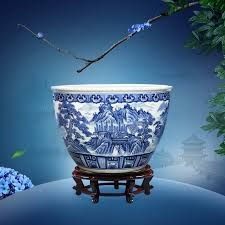 get ations jingdezhen blue and white ceramic vats large pots planted aquarium fish tank chamber relocation of joe