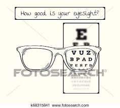 Blurry Eye Test Chart Snellen Chart For Eye Test Sharp And Blurred Clipart