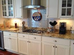 Rectangular Kitchen Tiles Kitchen Backsplash Tile With Dark Cabinets Rectangular Table