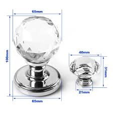 less chrome door knobs uk pair large crystal glass door knobs handles internal mortice