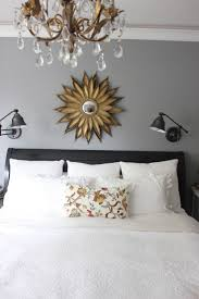 Love this for over my bed. Love the lamps too! I want wall mounted