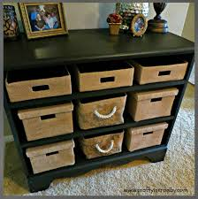 dresser with basket drawers. Check Out How This Chest With NO Drawers Was Turned From Trash Into Functional Storage Unit The Addition Of Shelves And Baskets Throughout Dresser Basket
