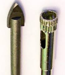 diamond bit. drilling glass - diamond drill bits vs arrowhead bit