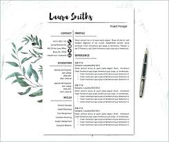 Resume Template For Mac Free Fresh Resume Templates For Mac – Resume ...