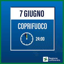 """Regione Lombardia - Da oggi il coprifuoco è posticipato alla mezzanotte. Il  presidente Attilio Fontana: """"Un altro importante passo verso la normalità.  Andiamo avanti veloci con la campagna vaccinale e continuiamo a"""