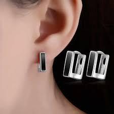 <b>TJP</b> New <b>Fashion</b> Gun Black Women Hoop Earrings Jewelry ...