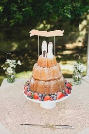 Cake Love An Unusual Bundt Wedding Cake Tower Dusted With Sugar And