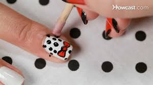 How to Create a Polka Dot Bow Design | Nail Art - YouTube