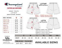 Men S Bottoms Size Chart Champion Mens Shorts Size Chart Rldm