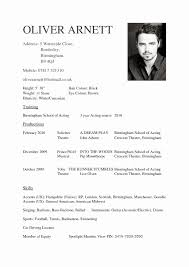 Acting Cvs Resume Template An Undergraduate Cv Awesome Templates For