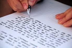 Resultado de imagen para mano escribiendo