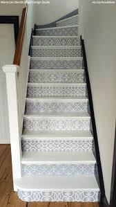 12 stencil ideas for your stairs paint stair risers with diy design
