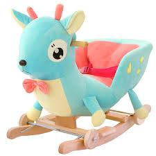 plush rocking chair.  Plush Kingtoy Plush Baby Rocking Chair Children Wood Swing Seat Kids Outdoor Ride  On Stroller Toy For M
