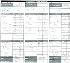 Free Workout Log Template Download Exercise Sheet Spreadsheet