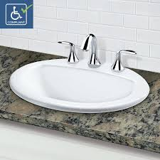 8 in centerset bathroom faucet. classically redefined® drop-in oval bathroom sink with 8\ 8 in centerset bathroom faucet r
