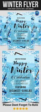 Winter Flyer Template Winter Flyer Flyer Template Template And Adobe 22