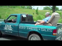 Grandpa Passed out on Lazyboy in Back of Pickup Truck - YouTube