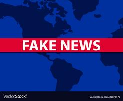 Fake News World Map On Background False