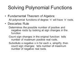 2 solving polynomial