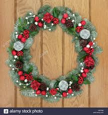 Advent Wreath Decorations Christmas And Advent Wreath Decoration With Red And Silver Bauble
