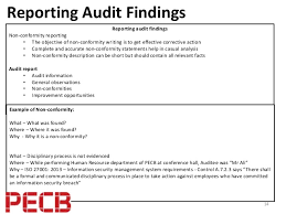 Internal Audit Report Sample Format Major Magdalene