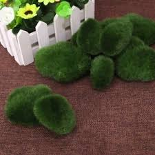 Decorative Moss Balls 60Pcs Moss Balls Decorative Stone Artificial Simulation Garden 32