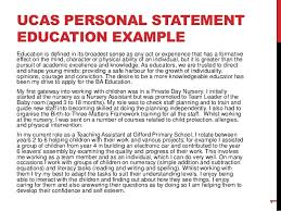 University Personal Statement Examples Ucas Personal Statement_education Example