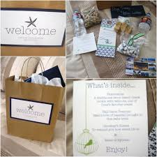 welcome bags for out of town guests! they will love you for it Wedding Etiquette Out Of Town Guests Gift definitely have to do a welcome bag in hotel rooms for our out of town guests wedding etiquette out of town guests gift