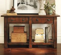 pottery barn entryway furniture. benchwright console table rustic mahogany stain pottery barn matches coffee and entryway furniture a