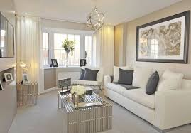 ... Cream And Slate Grey Living Room. Barratt Homes Somerton At Glenfield  Park Kirby Road