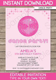 Girls Disco Party Invitations Letter Bestkitchenview Co