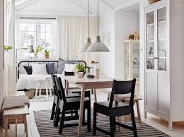 black furniture ikea. a mediumsized dining room furnished with white stained solid birch table and four black furniture ikea